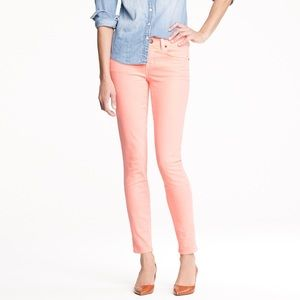 J. Crew | Pink Toothpick Ankle Jeans